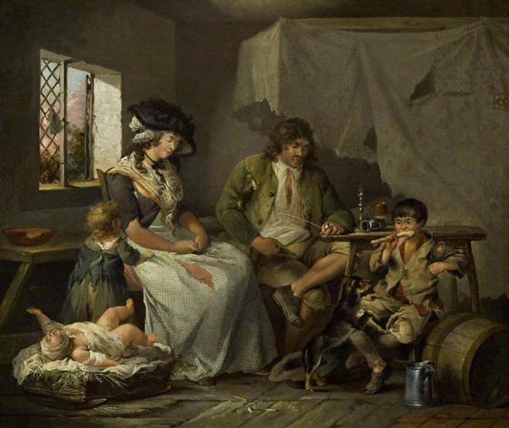 The Miseries of Idleness, 1780 - George Morland