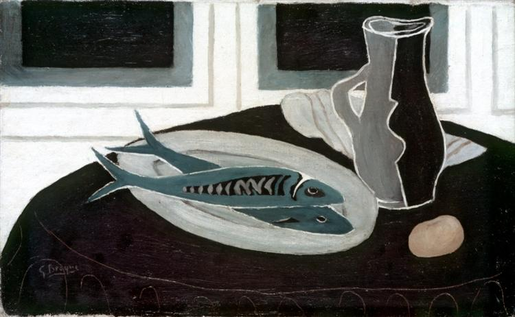 Bottle and Fish, 1941 - Georges Braque