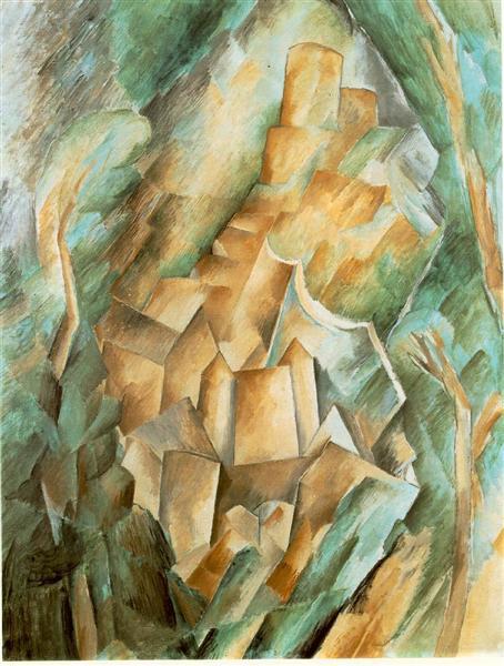 Castle at La Roche Guyon - Georges Braque