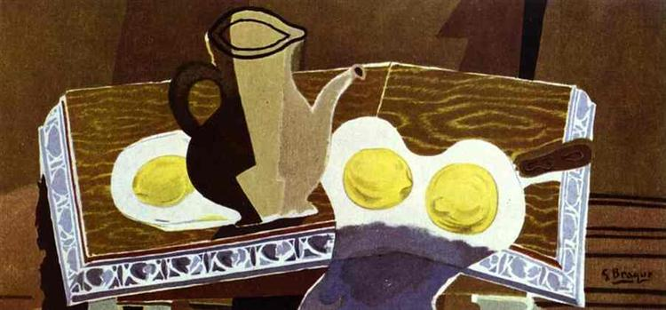 Glass pitcher and lemons, 1942 - Georges Braque