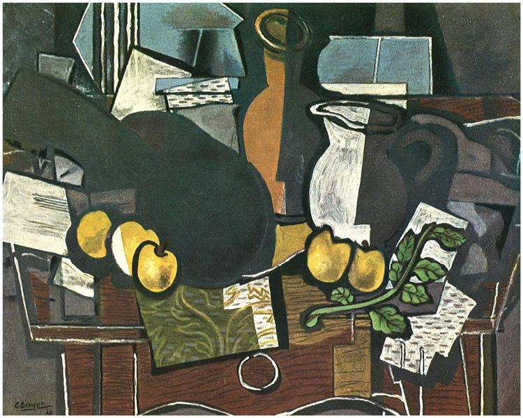 Guitar, Fruit and Pitcher, 1927 - Georges Braque