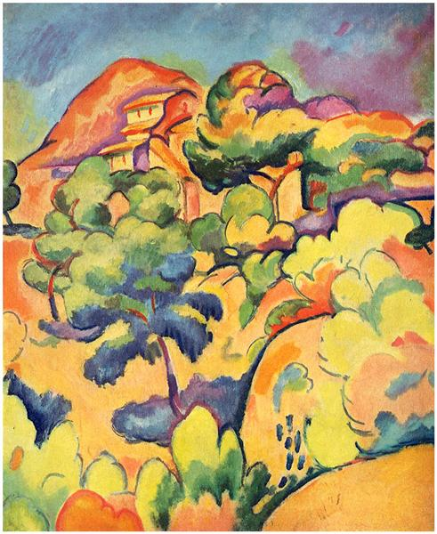 Landscape at La Ciotat, 1907 - Georges Braque