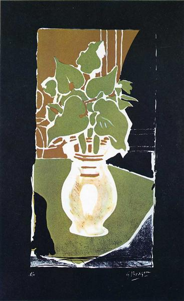 Leaves in color of light, 1953 - Georges Braque