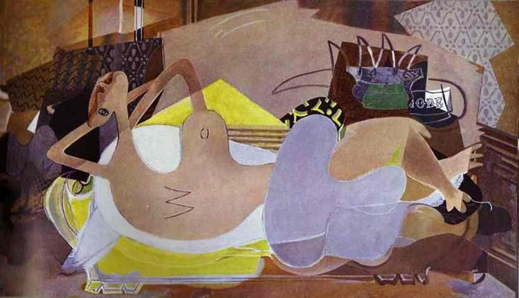 Lying Nude (The Bather IX), 1932 - Georges Braque