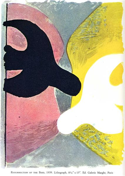 Resurrection of the Bird, 1959 - Georges Braque