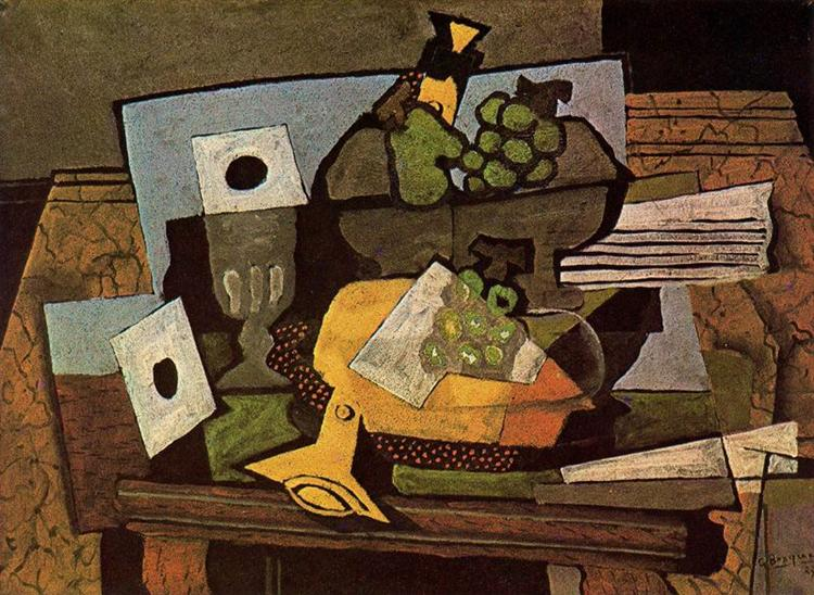 Still life (with clarinet), 1927 - Georges Braque
