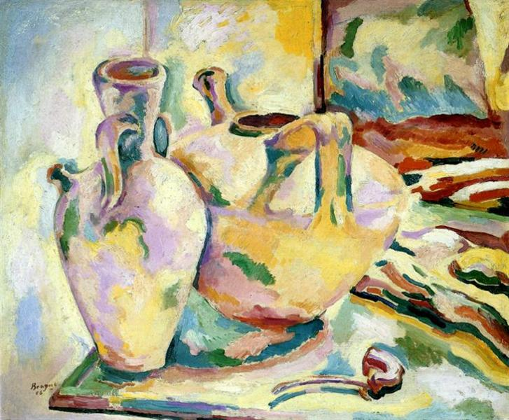 Still Life with Jugs and Pipe, c.1906 - Georges Braque