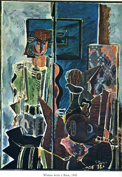 Woman with Book, 1945 - Georges Braque
