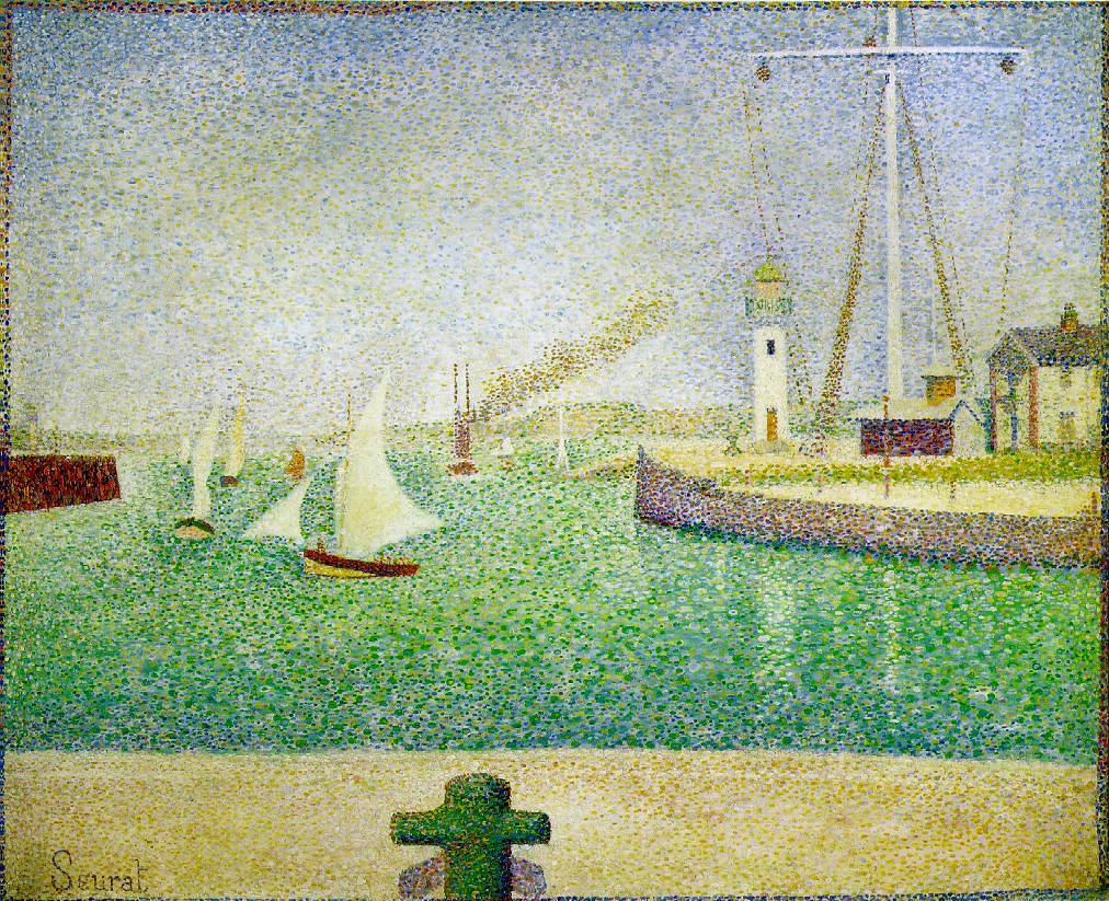 george seurat Georges seurat is the pioneer of technique of painting in softly flickering, small dots or strokes of color, called pointillism.