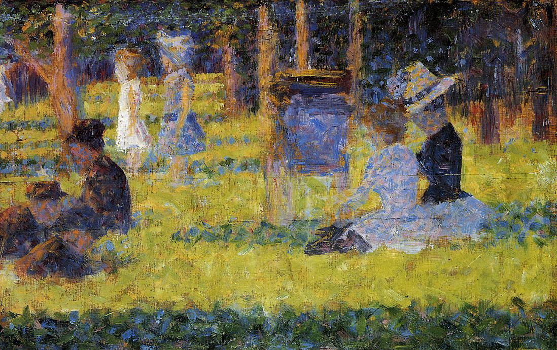 georges seurat a sunday on la Save 75% & free shipping on our painting a sunday afternoon on the island of  la grande jatte, sometimes just called seurat sunday afternoon.