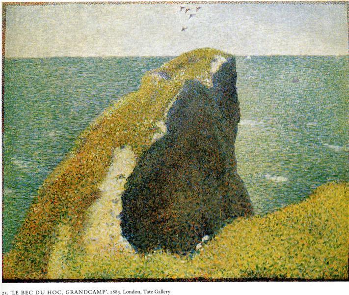The Bec du Hoc, Grandcamp, 1885 - Georges Seurat