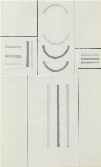 Fonction de lignes, courbes et droites, 1937 - Georges Vantongerloo