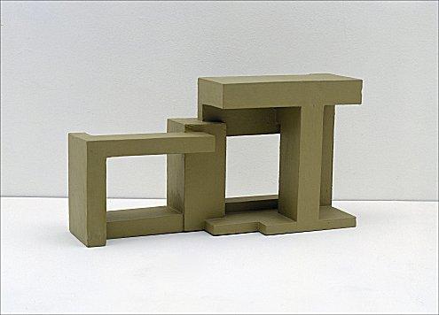 Variation sur le carré inscrit et le carré circonscrit d'un cercle, 1929 - Georges Vantongerloo