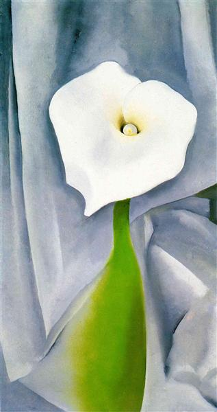 Calla Lily on Grey - O'Keeffe Georgia