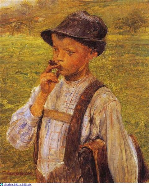Boy Smoking, 1900 - Georgios Jakobides