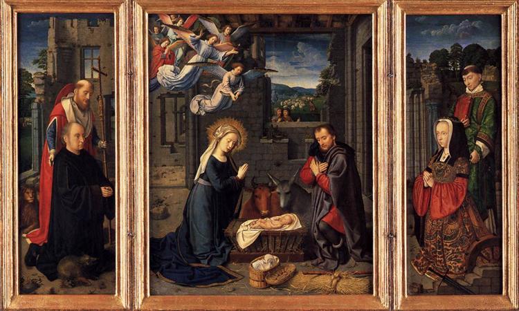 Triptych with the Nativity, 1505 - 1515 - Gerard David