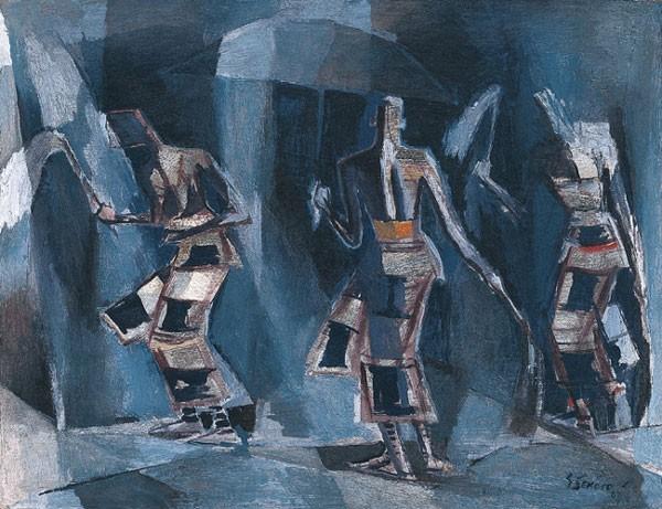 Dancing Senegalese Figures, 1967 - Gerard Sekoto