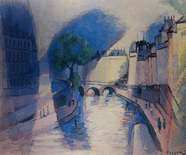 VIEW ALONG THE SEINE, PARIS, 1970 - Gerard Sekoto
