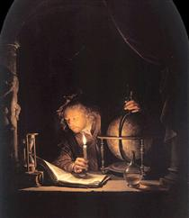 Astronomer by Candlelight - Gerard Dou