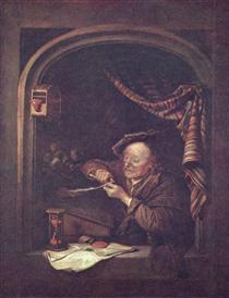 The old schoolmaster - Gerard Dou