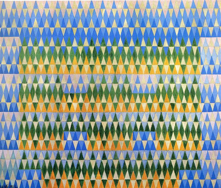 Iridescent Interpenetration No.5 - Eucalyptus, 1914 - Giacomo Balla