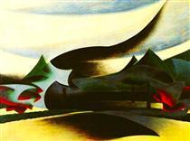 Warship, widow and wind - Giacomo Balla