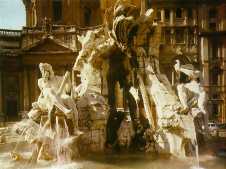 The Four Rivers Fountain, 1648 - 1651 - Gian Lorenzo Bernini