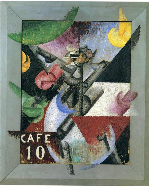 plastic rhythm of the 14th of july 1913 gino severini