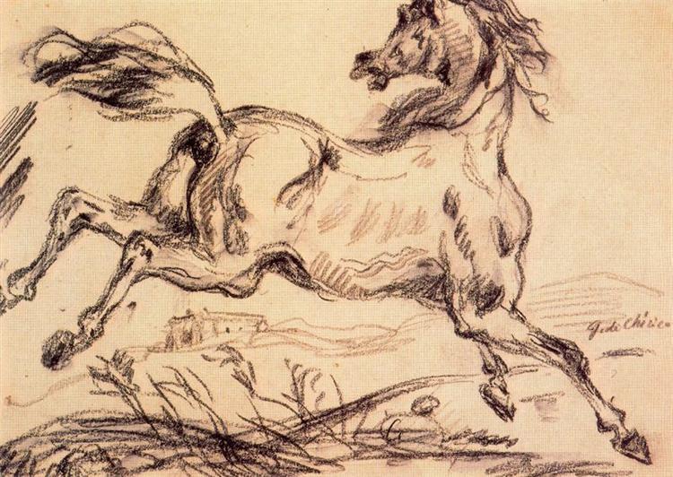 A horse, c.1949 - Giorgio de Chirico