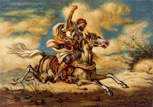Arab on horseback - Giorgio de Chirico