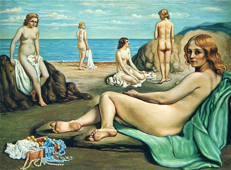 Bathers on the beach, 1934 - Giorgio de Chirico