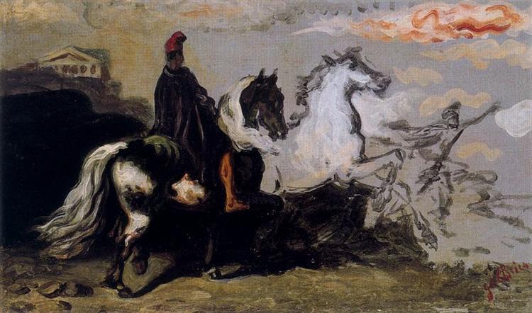 Horse with rider - Giorgio de Chirico