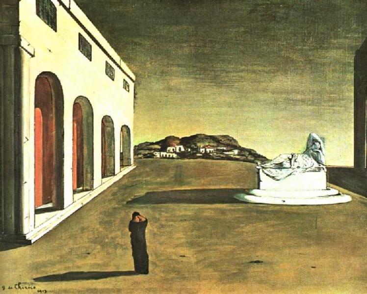 Melancholy of a Beautiful Day, 1913 - Giorgio de Chirico