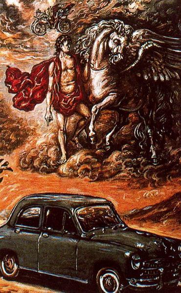Poster for Fiat 1400 - de Chirico Giorgio