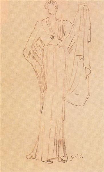 Study of a model - Giorgio de Chirico