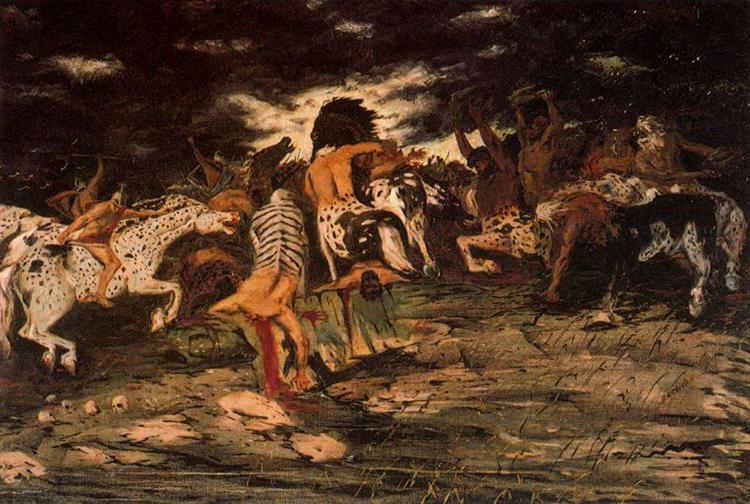 The battle of Lapiths and Centaurs, 1909 - Джорджо де Кіріко
