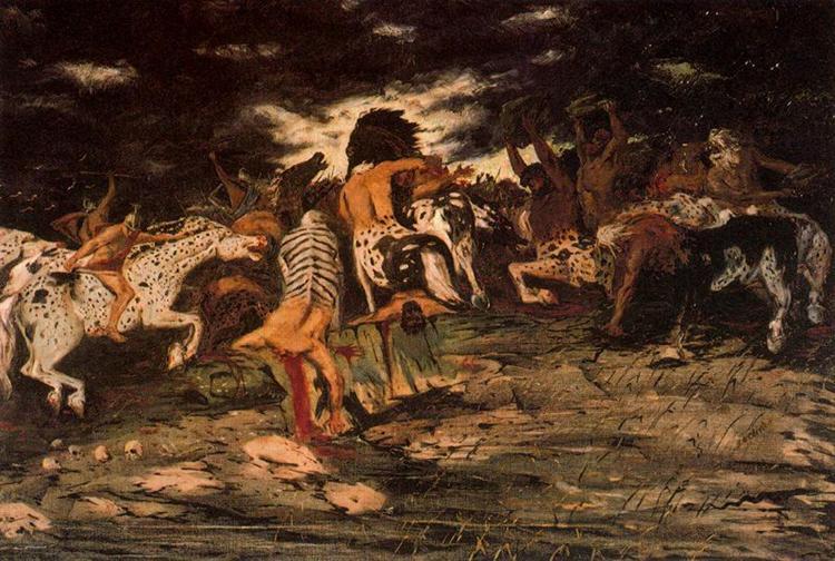 The battle of Lapiths and Centaurs, 1909 - Giorgio De Chirico