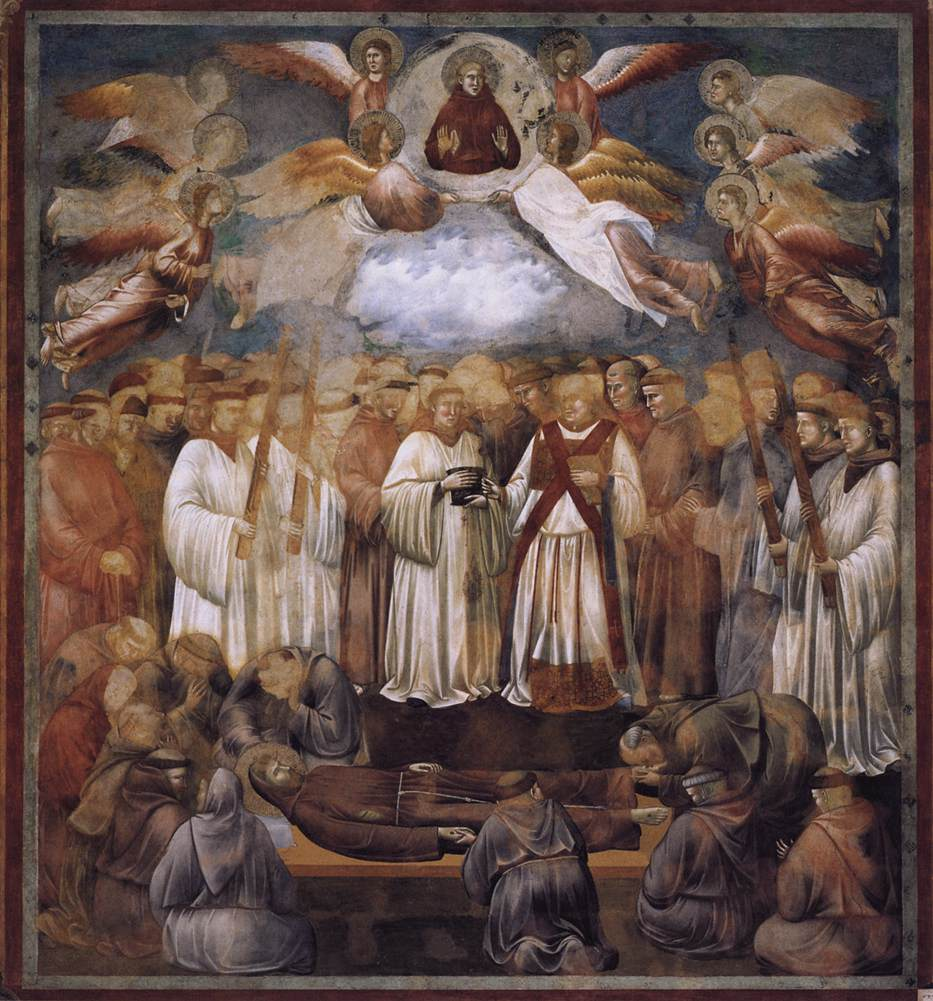 Death and Ascension of St. Francis, 1300 - Giotto - WikiArt.org