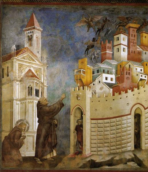 Exorcism of the Demons at Arezzo, 1297 - 1299 - Джотто