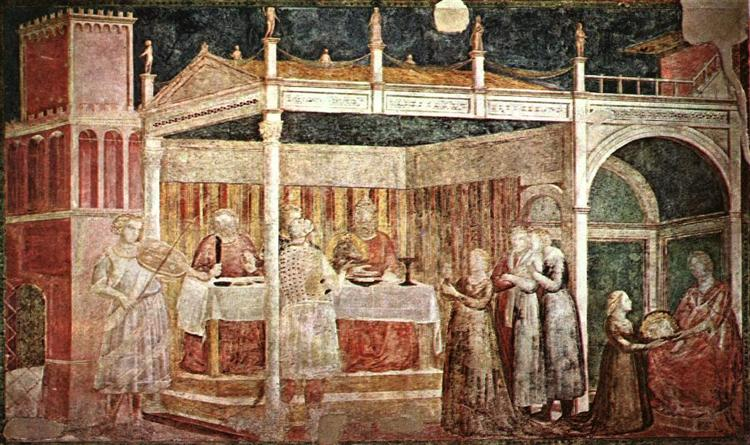 Feast of Herod, 1320 - Giotto