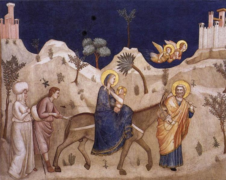 Flight into Egypt, c.1311 - c.1320 - Giotto