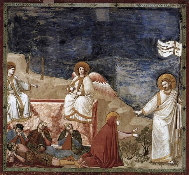 Resurrection (Noli me tangere), c.1304 - c.1306 - Giotto