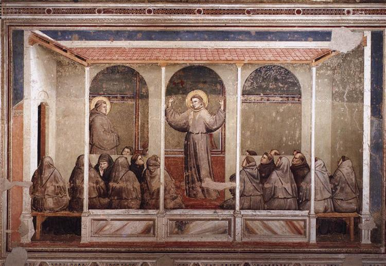 St. Francis Appears to St. Anthony in Arles, 1325 - Giotto