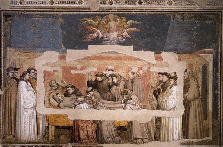 The Death of St. Francis, 1325 - Giotto