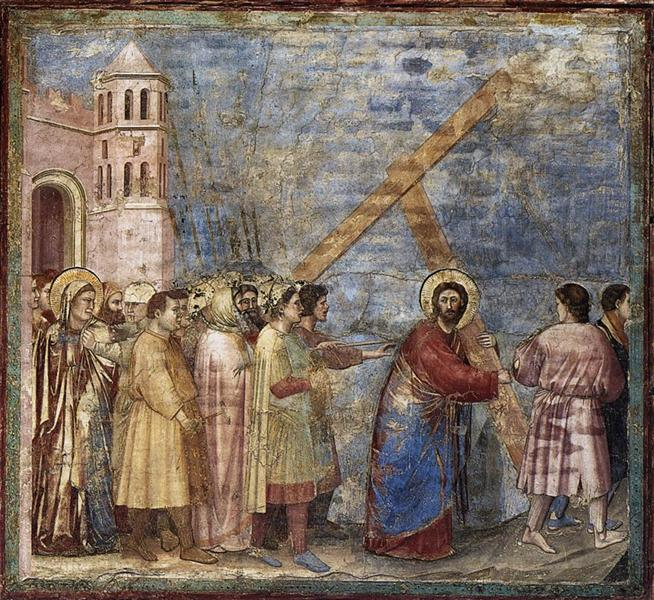 The Road to Calvary, c.1305 - Giotto di Bondone