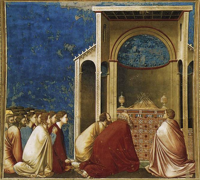 The Suitors Praying, c.1304 - c.1306 - Giotto