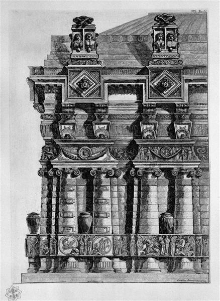Architectural decoration - Giovanni Battista Piranesi