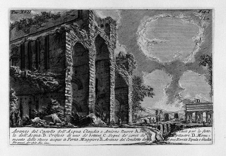 The Roman antiquities, t. 1, Plate XVII. Aqua Claudia., 1756
