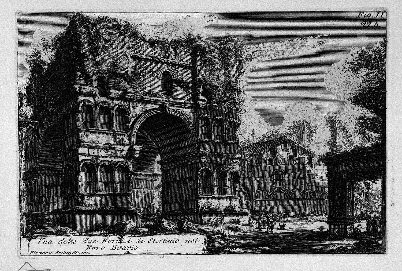 The Roman antiquities, t. 1, Plate XXI. Arch of Janus., 1756