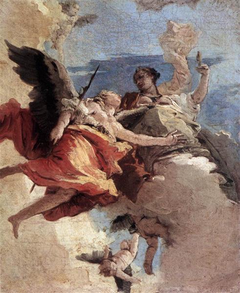 Allegory of Strength and Wisdom, 1740 - 1743 - Giovanni Battista Tiepolo